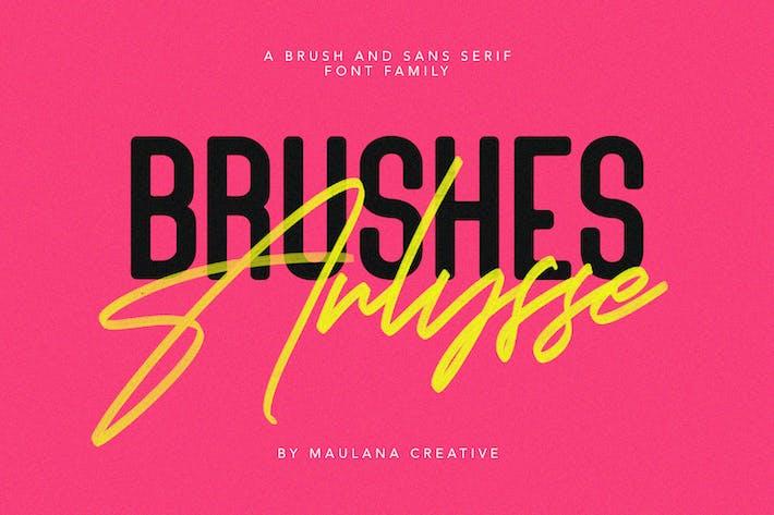 Arlysse SVG Brush Font Free Sans Con serifa Tipo de letra