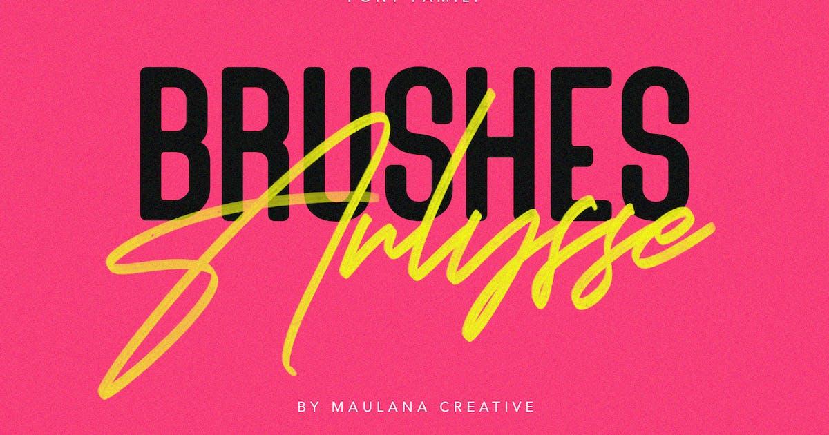Download Arlysse SVG Brush Font Free Sans Serif Typeface by maulanacreative
