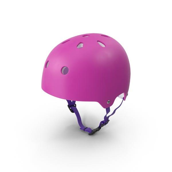 Thumbnail for Pink Skateboard Helmet