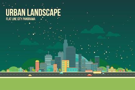 Urban Landscape Nightview Background