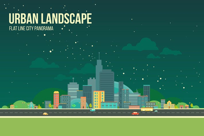 Thumbnail for Urban Landscape Nightview Background