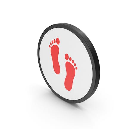 Icon Footprint Red