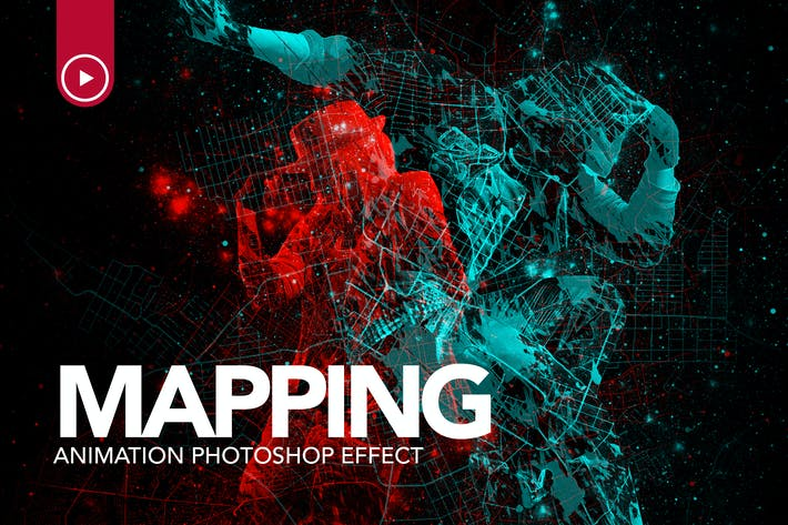 Thumbnail for Gif Animated Mapping Photoshop Action