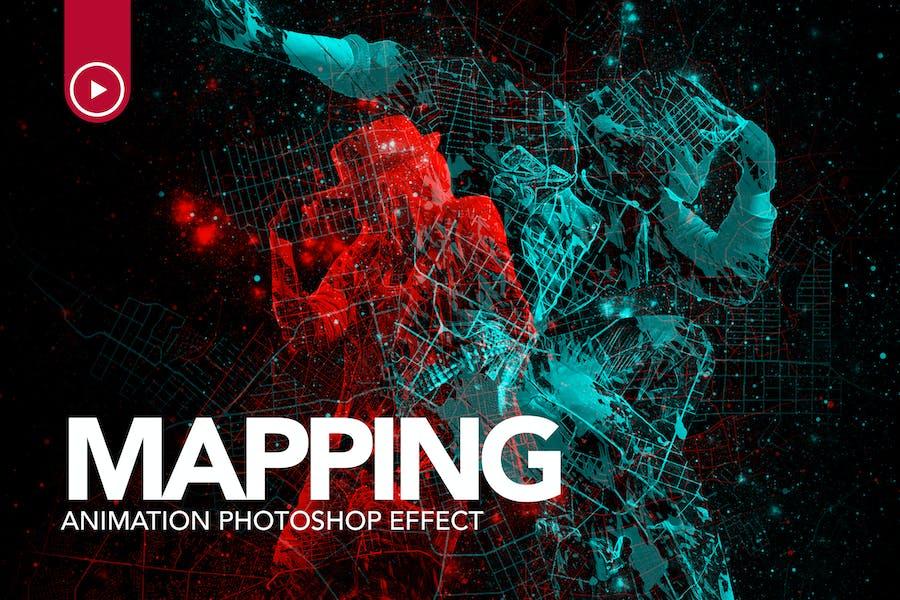 Gif Animated Mapping Photoshop Action
