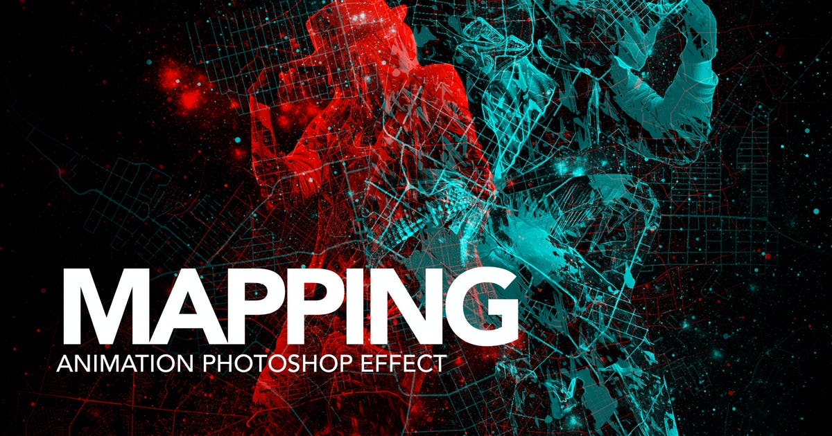 Download Gif Animated Mapping Photoshop Action by sreda