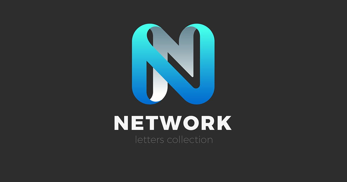 Download Letter N Logo design 3D Ribbon style by Sentavio