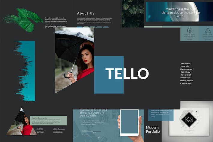 Cover Image For TELLO Google Slides