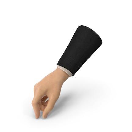 Postura de firma de mano de traje