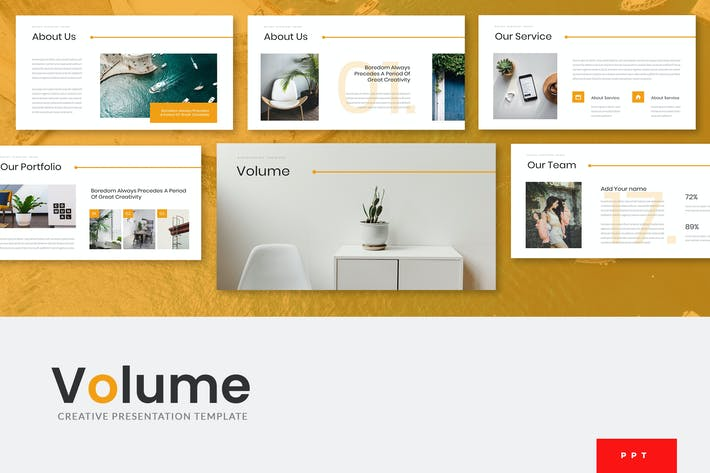 Thumbnail for Volume - Creative Powerpoint Presentation Template