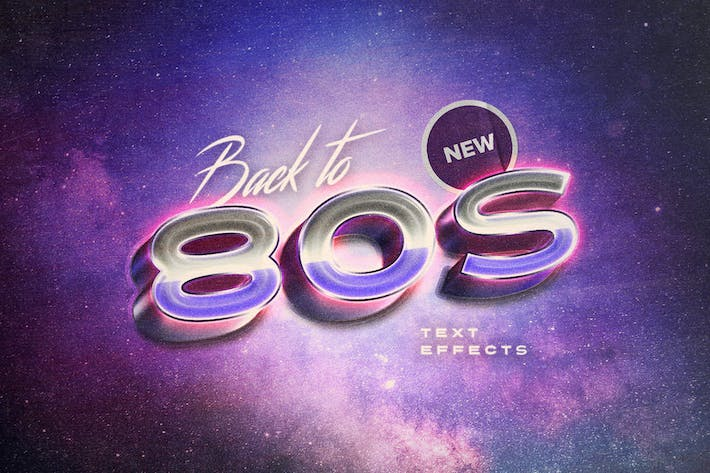 Thumbnail for Back to the 80s Retro Text Effects