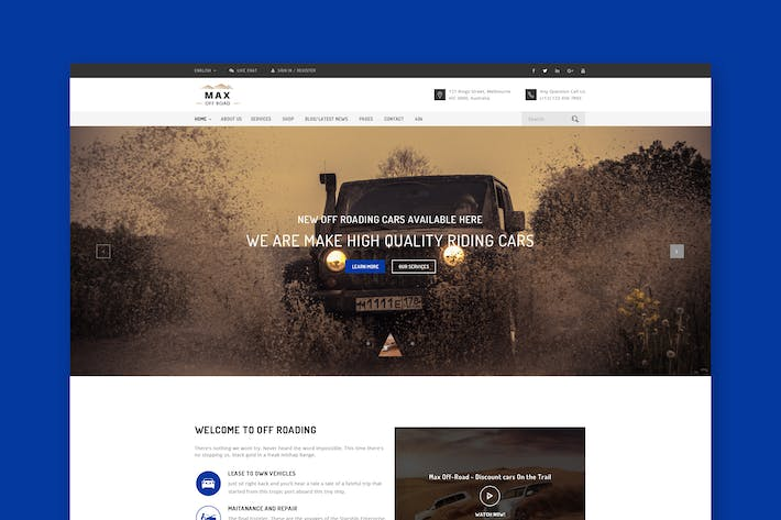 Thumbnail for Off-roading PSD Template