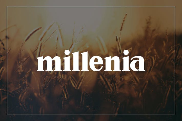 Cover Image For Millenia - Serif Font