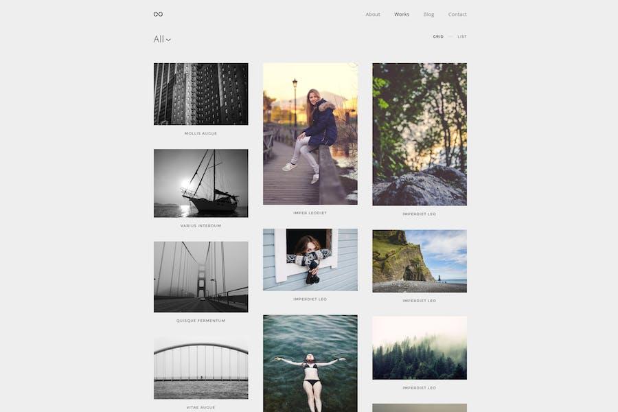 Montenegro - Minimal Photography WordPress Theme