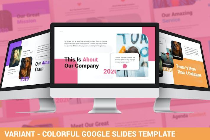 Thumbnail for Вариант - Красочный Шаблон Google слайдов
