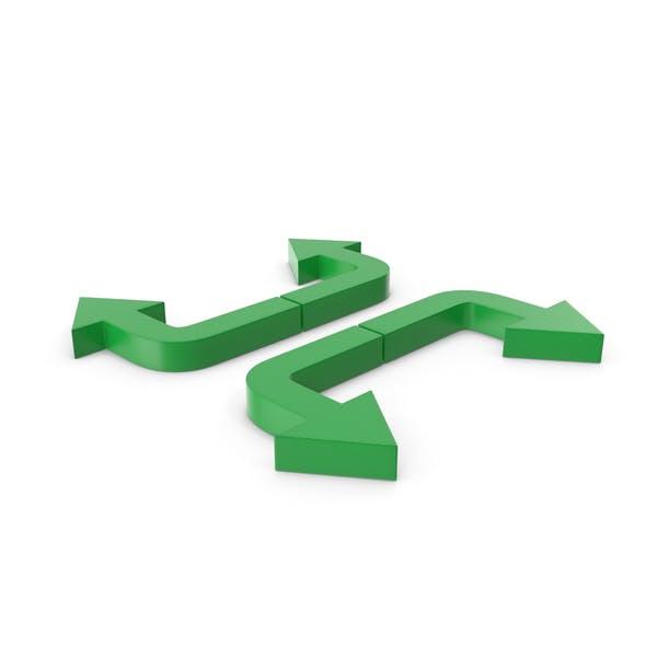 Pfeile grün