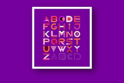 Decorative Geometric Font