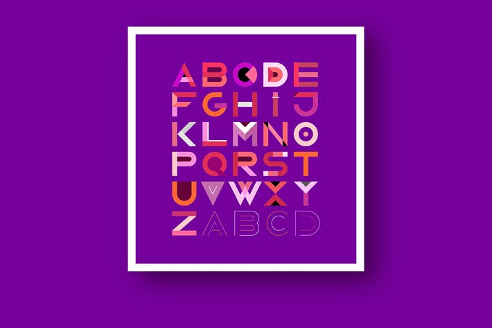 Thumbnail for Decorative Geometric Font