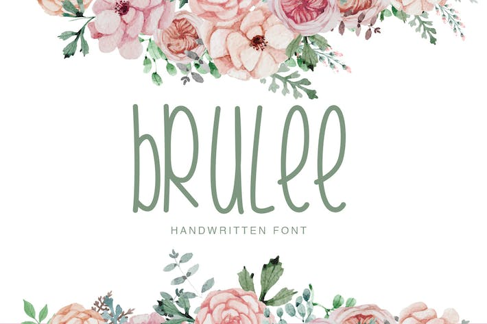 Thumbnail for Brulee | Font Duo