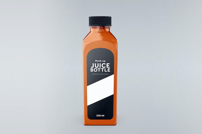 Cover Image For Juice Bottle Mock-Up Template