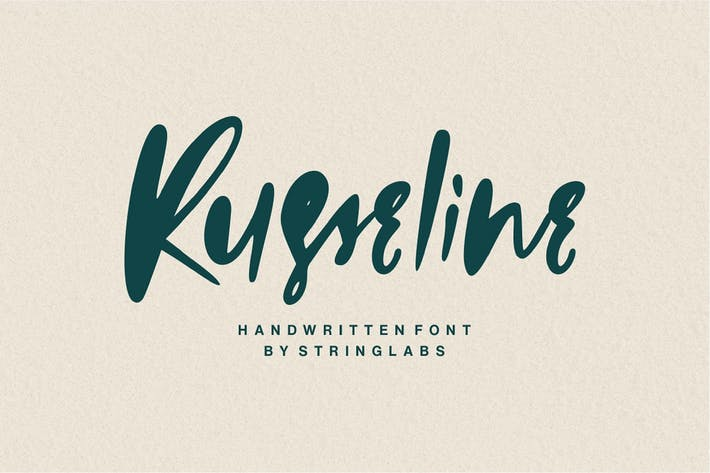 Thumbnail for Russeline - Handwritten Font