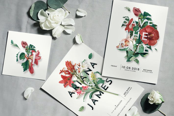 Thumbnail for Modern Vintage Floral Invitation