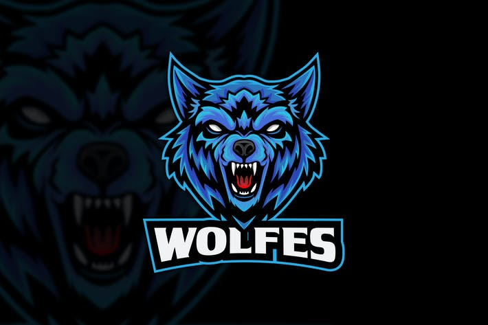 Wolf Angry Esports Logo Mascot