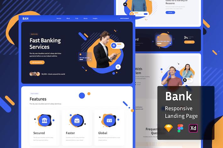 Bank Responsive Landing Page