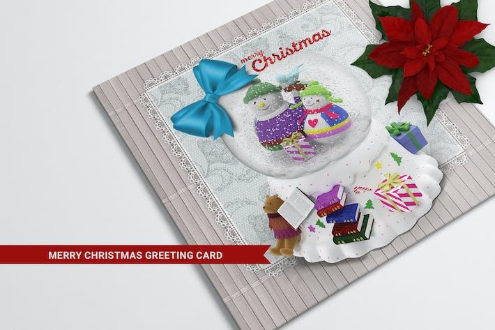 Thumbnail for Snow Ball Christmas Greeting Card