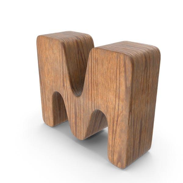M Деревянная буква