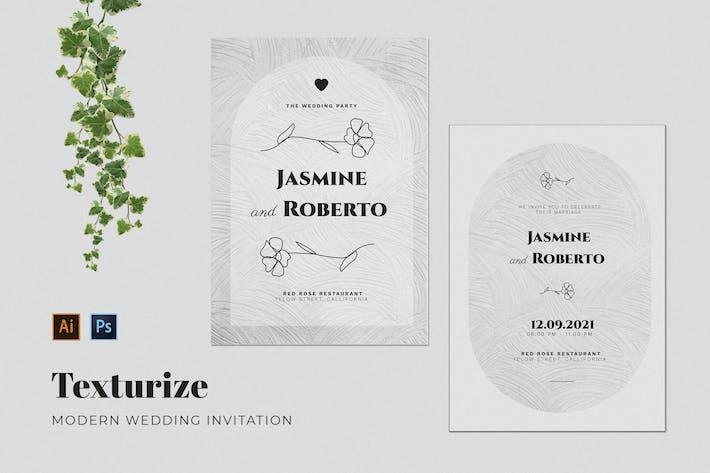 Texturize Wedding Invitation