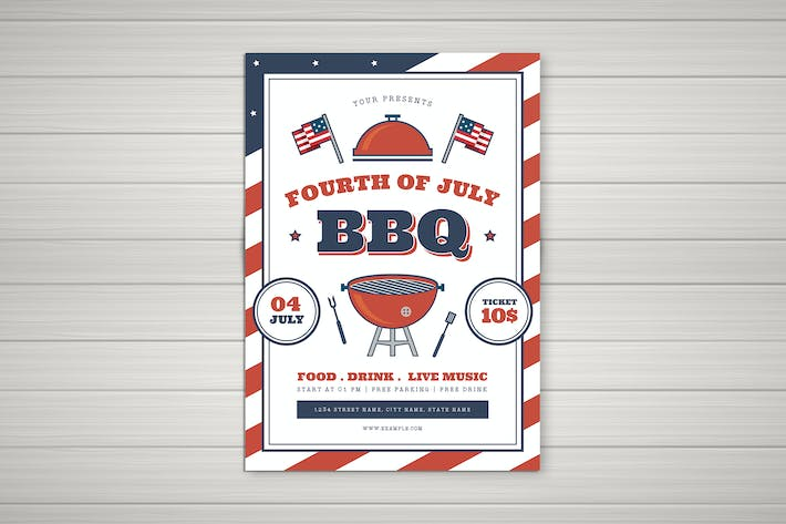 Cover Image For 4th Of July BBQ Flyer 02