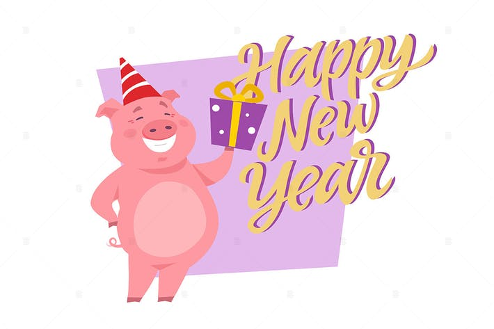 Thumbnail for Happy New Year - cartoon character illustration
