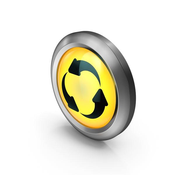 Yellow Round Three Arrow Symbol