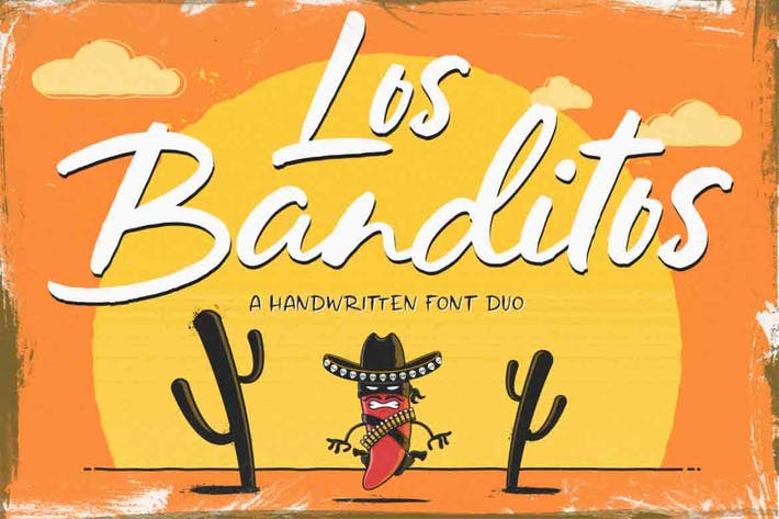 Thumbnail for Los Banditos Font Duo