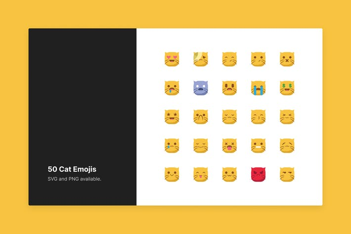 Thumbnail for Cute Cat Emojis