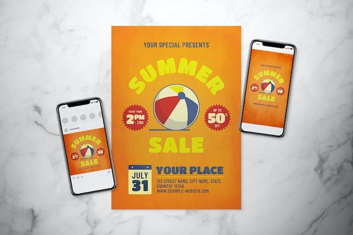 Summer Sale Flyer Set