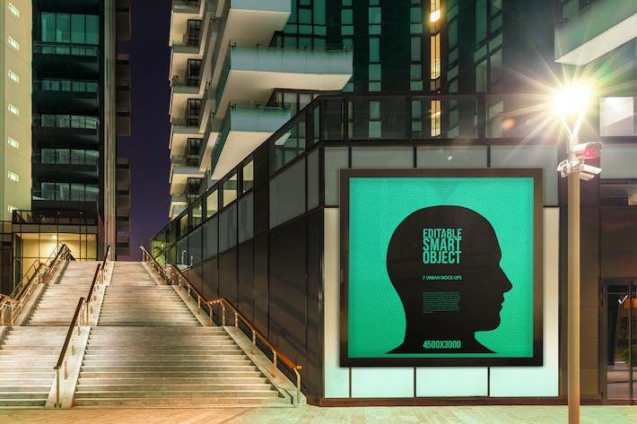 Cover Image For Urban Poster-Billboard Maquetas - Edición Nocturna #4