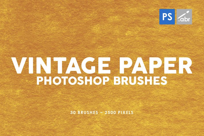 Thumbnail for 30 Vintage Paper Photoshop Stamp Brushes Vol.3