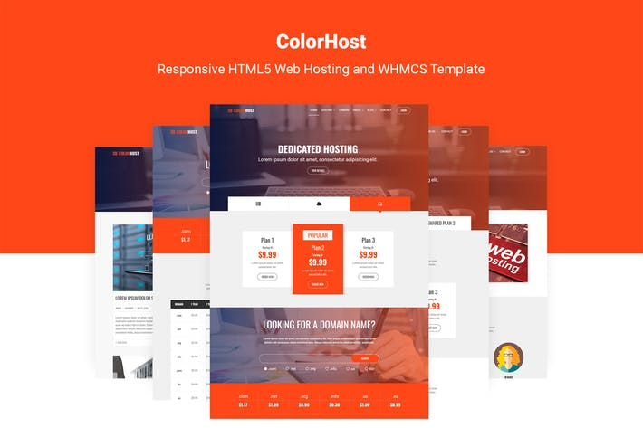 Thumbnail for ColorHost | HTML5 Web Hosting and WHMCS Template