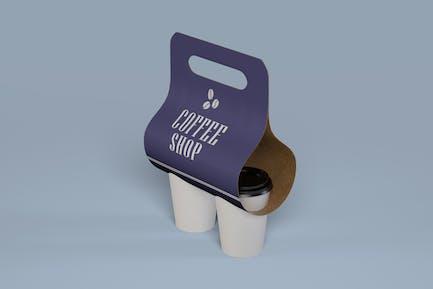 Take away Coffee Holder Mockup