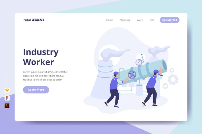 Thumbnail for Industry Worker - Landing Page