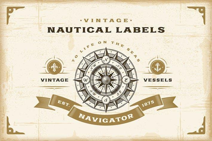 Thumbnail for Vintage Nautical Labels Set