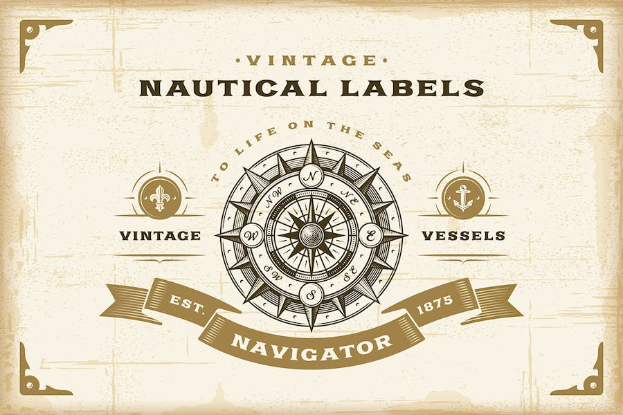Vintage-Nautical-Labels-Set