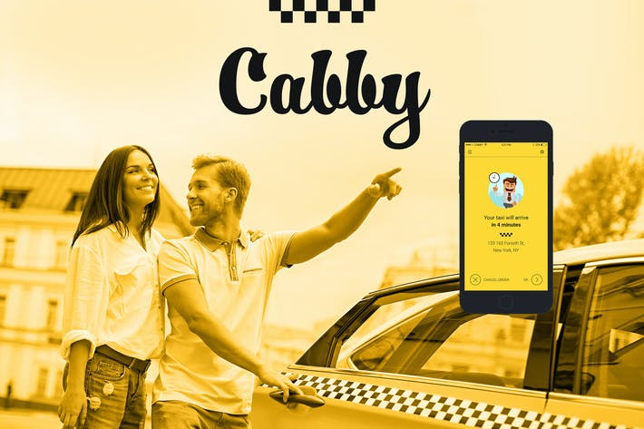 Thumbnail for Cabby — Taxi Service Mobile App UI