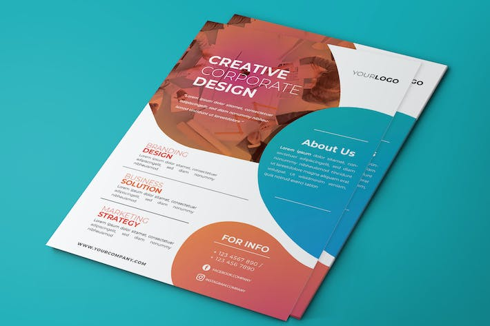 Thumbnail for Creative Corporate Flyer