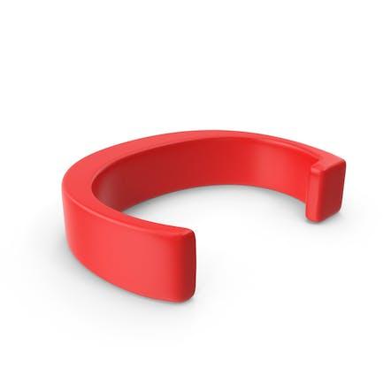Letra roja mayúscula C