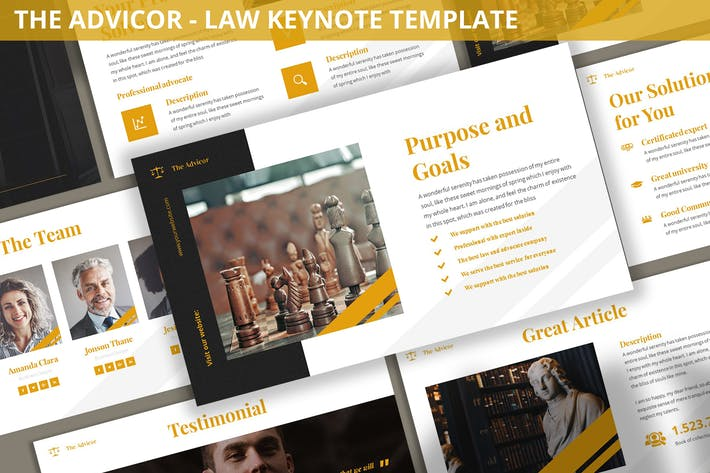 Thumbnail for The Advicor - Law Keynote Template