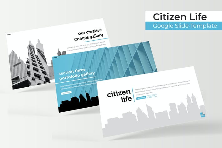Thumbnail for Citizen Life - Google Slide Template