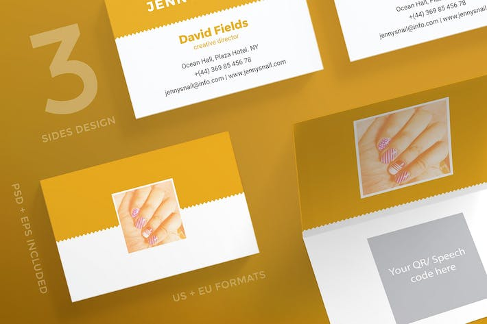 Thumbnail for Nail Salon Business Card Template