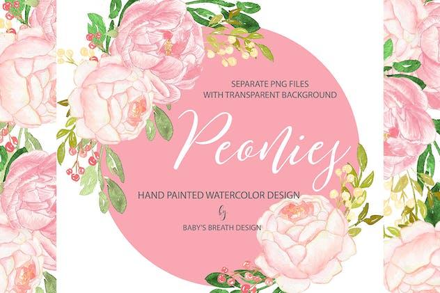 Peony pink design